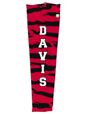 Shop Slashes overlay arm sleeve in red and black with text